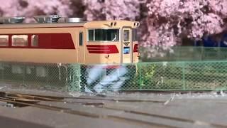 〈12〉 Nゲージ レイアウト キハ82 ひだ 〔JR東海仕様〕 さくら海岸鉄道