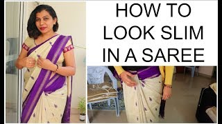 HOW TO GET SLIM WAIST IN A SAREE