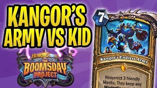 Toast & KANGOR'S ENDLESS ARMY vs Innocent Kid | Kangor Paladin | The Boomsday Project | Hearthstone