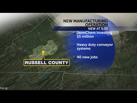 Manufacturing operation to create 40 new jobs in Russell Co.