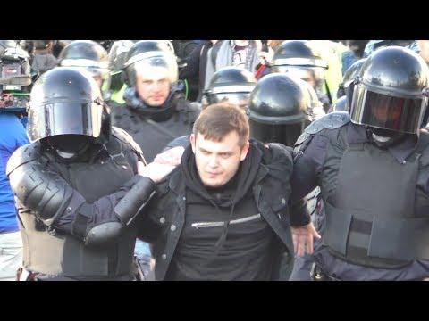 Задержания на митинге у Администрации Президента 10 августа