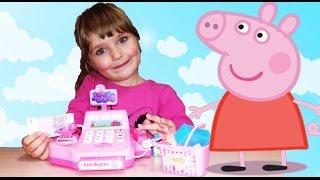 Свинка Пеппа українською мовою нові серії всі підряд Касовий апарат. Пеппа укр