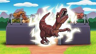 Minecraft - SECURE RAPTOR CAGE CHALLEGE! (Dinosaurs vs Secure Fort)