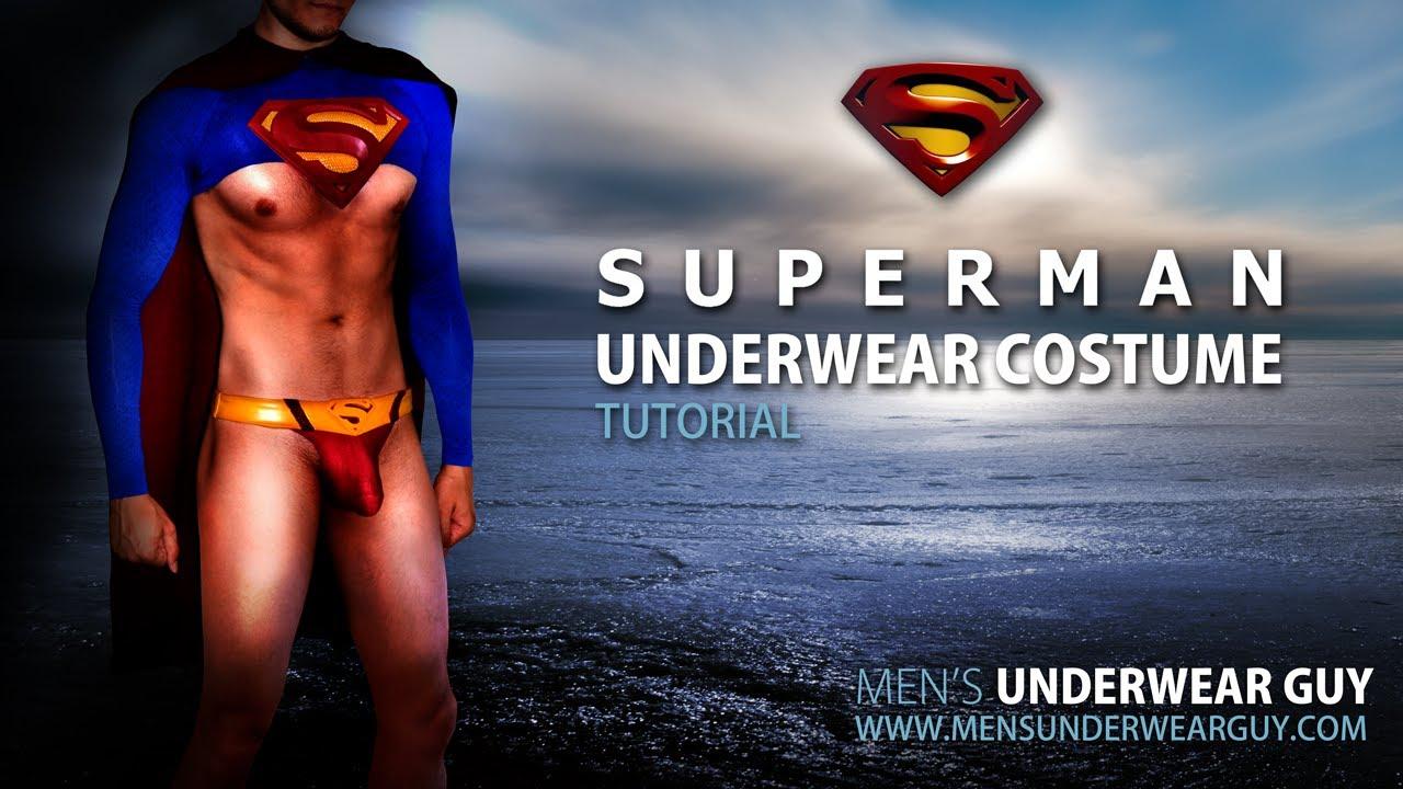 Superman Underwear Costume Tutorial by Men's Underwear Guy - YouTube