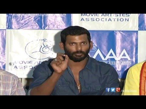 MAA donates funds to Nadigar Sangam, Chennai   Press Meet   Rajendra Prasad, Vishal
