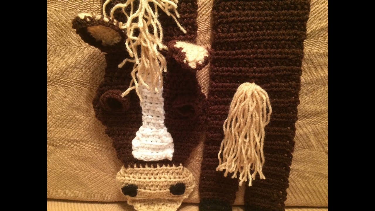 Crochet Horse Scarf Tutorial - YouTube