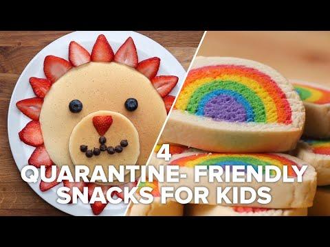 4 Fun Quarantine-Friendly Snacks For Kids • Tasty Recipes