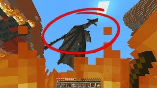 so i tried to fight this modded dragon in minecraft...