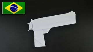 Origami: Pistola Desert Eagle - Instruções em Português (BR)