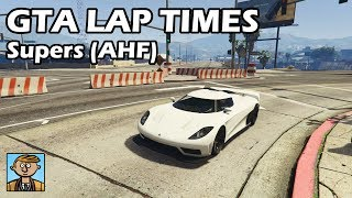 Fastest Supercars (AHF Retesting) - GTA 5 Best Fully Upgraded Cars Lap Time Countdown