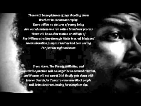 Gil Scott HeronThe Revolution Will Not Be Televised with lyrics