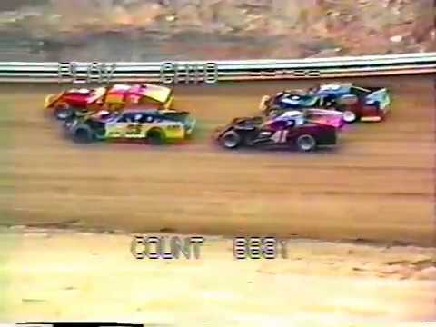 1995 Beckley Motor Speedway Modified Heat Race - Keith Bills wins, Joe Cox 2nd - Motorsports Park