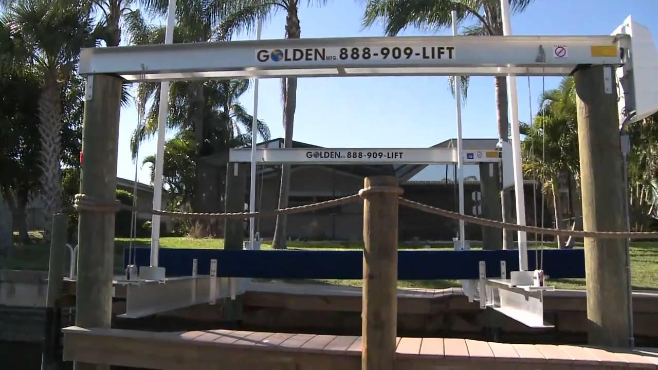 hight resolution of golden boat lifts short presentation