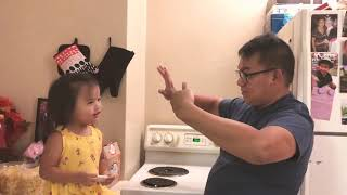 FAILED MAGIC TRICK: you can't trick me, daddy!