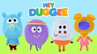 hey duggee squirrels soft toys bbc cbeebies tv show   kids play o clock toys review