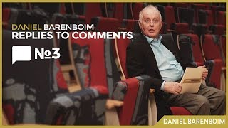Critic & Musical Career | Daniel Barenboim Replies To Comments No.3 [subtitled]