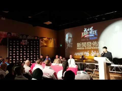 Canada vs China (East Vs West) Press Conference - WLF Xinflix
