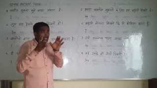 SIMPLE PRESENT TENSE  - part - 1.  English (spoken ) Class through Hindi. Grammar . Course.