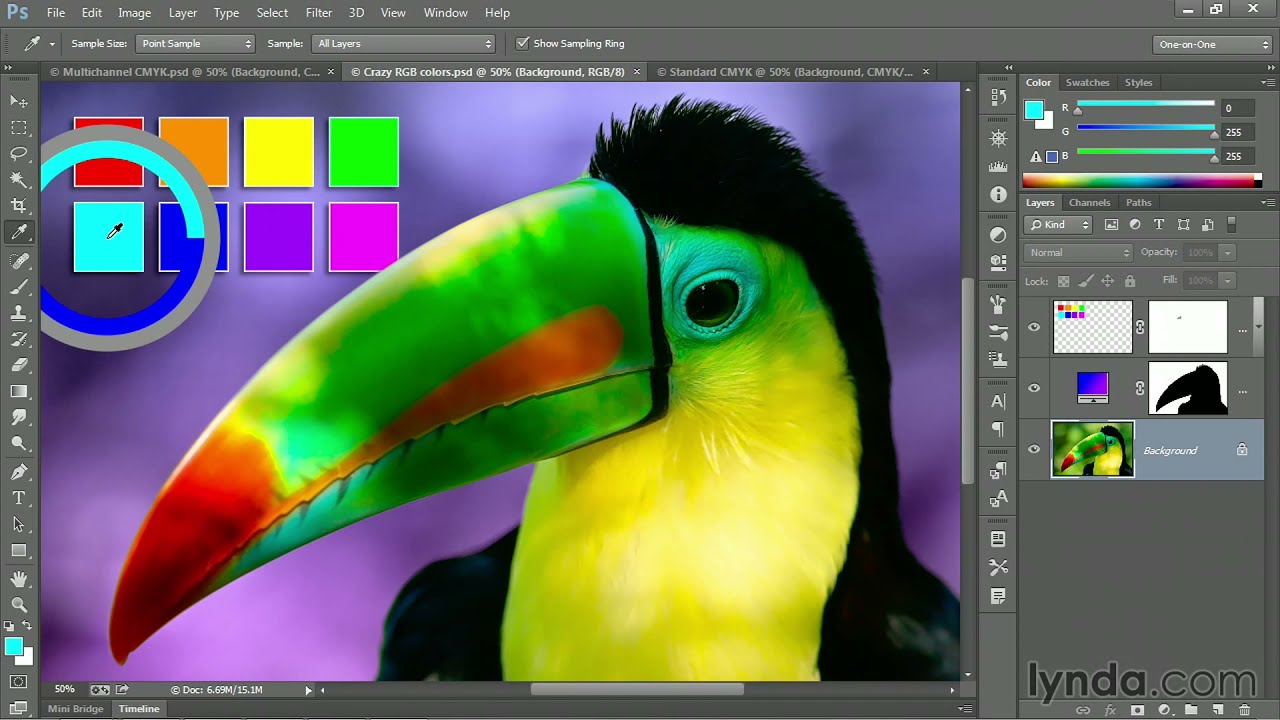 Photoshop Tutorial Converting From Rgb To Cmyk Via Multichannel