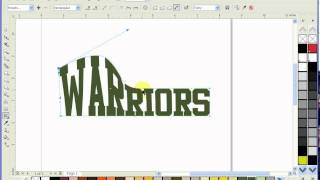 Corel Draw X4-How to use the evelope tool to bridge text