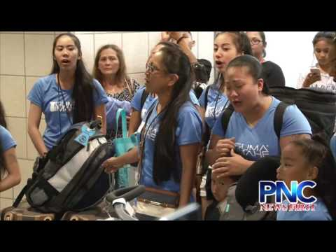 Guma Imahe Traditional CHamoru Dance Group Arrives on Guam From Washington For FESTPAC