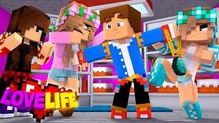 Minecraft LOVE LIFE - LITTLE KELLY, ASHLEY & IVY FIGHT OVER LITTLE DONNY & RAVEN!!