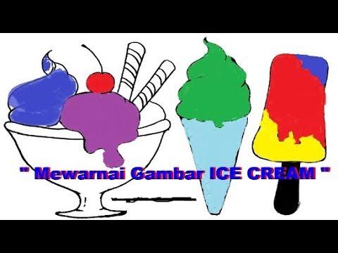 Belajar Mewarnai Gambar Es Crem Untuk Anak Lebih Praktis /Coloring pictures