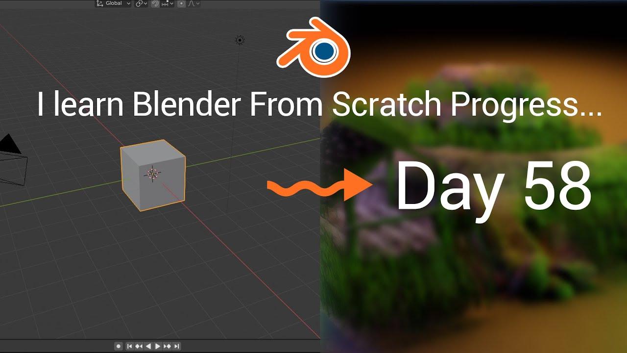 I Learn Blender Progress 2nd Month and Finished 2nd Scene