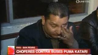 Paro de transportes - Choferes en contra de PumaKatari