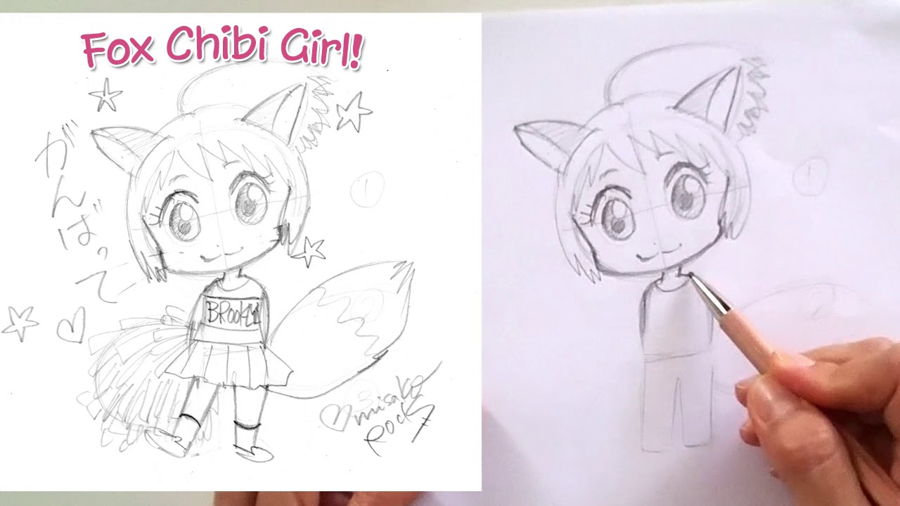 How to draw a kawaii chibi girl for beginners step by step