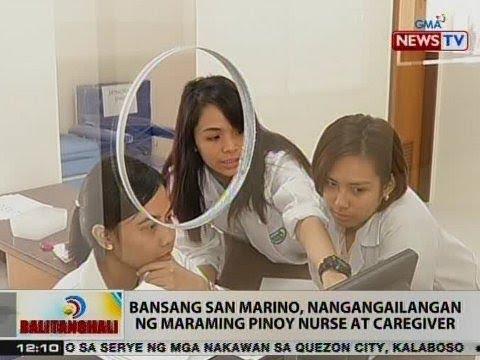 BT: Bansang San Marino, nangangailangan ng maraming Pinoy nurse at caregiver