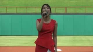 [Newko] Sohyang is singing Korean National Anthem at Korean Heritage Night 2016 @ Rangers Ball Park