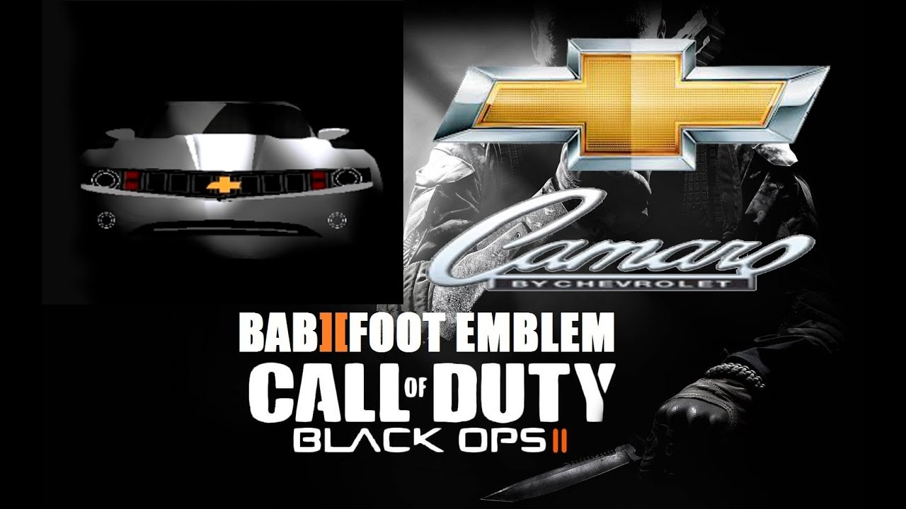 Cod Black Ops 2 Emblem Tutorial Chevrolet Camaro Youtube