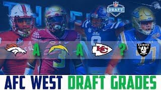 2018 NFL Draft Grades AFC WEST Raiders Chargers Broncos Chiefs (NFL DRAFT WINNERS)