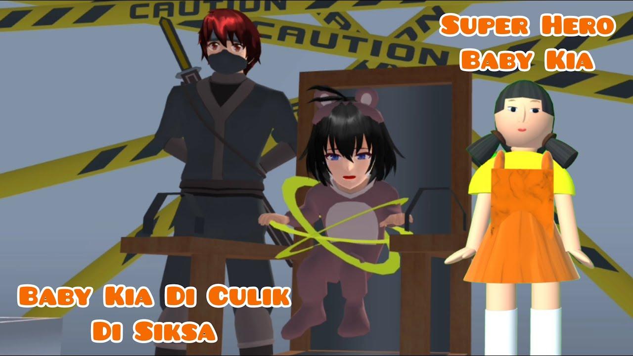 Super Hero Baby Kia   Baby Kia Di Culik Disiksa   Drama Sakura School Simulator