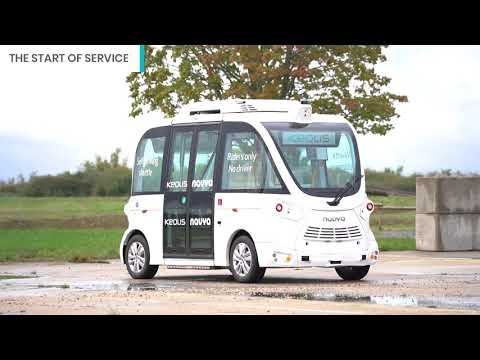 First shuttle service WITHOUT an onboard operator & WITH a remote supervision centre in Châteauroux
