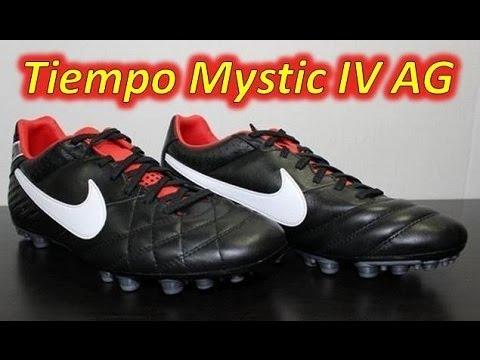 0d4447caa379 Nike Tiempo Mystic IV AG Black/Challenge Red/Metallic Grey - YouTube