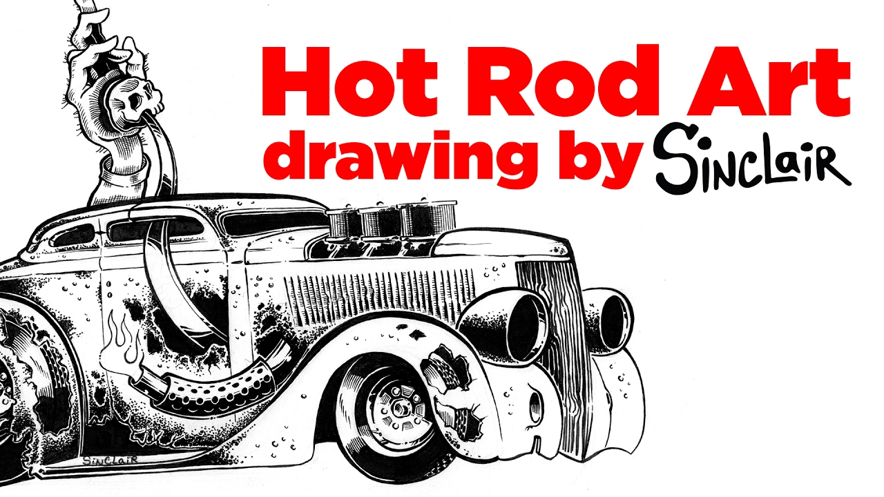It's just an image of Shocking Drawing Of Hot Rods