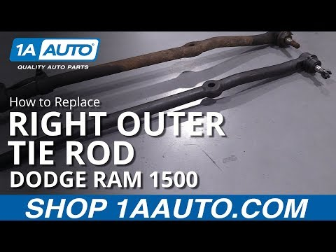 How to Replace Passenger Side Outer Tie Rod 94-02 Dodge Ram 1500 Truck