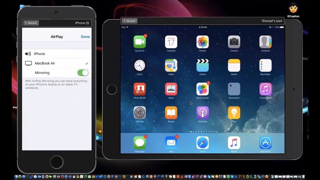 AirPlay Mirroring to your Mac from iPad or iPhone- IOS 9 ...