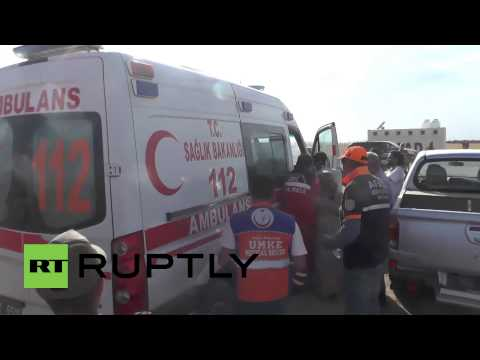 Turkey: Injured boy rushed to hospital after Syria border land-mine blast