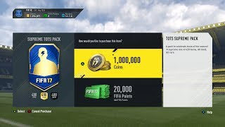 A 1 MILLION COIN TEAM OF THE SEASON SPECIAL PACK!!! Fifa 17 Pack Opening