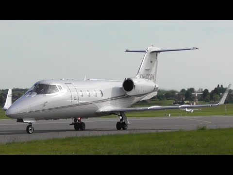 Stunning Learjet 55 Departure at Cambridge Airport