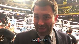 "EDDIE HEARN ""ROCKY WAS OUTCLASSED. CANELO VS JACOBS THE BEST FIGHT IN THE MIDDLEWEIGHT DIVISION"""