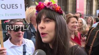 France: Femen protest topless in Paris in support of on-trial fellow activists