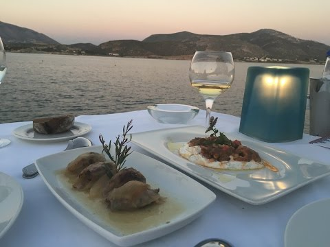THE BEST CRETE FOOD IN ATHENS / LAGONISSI GALAZIA  AKTI - GREECE