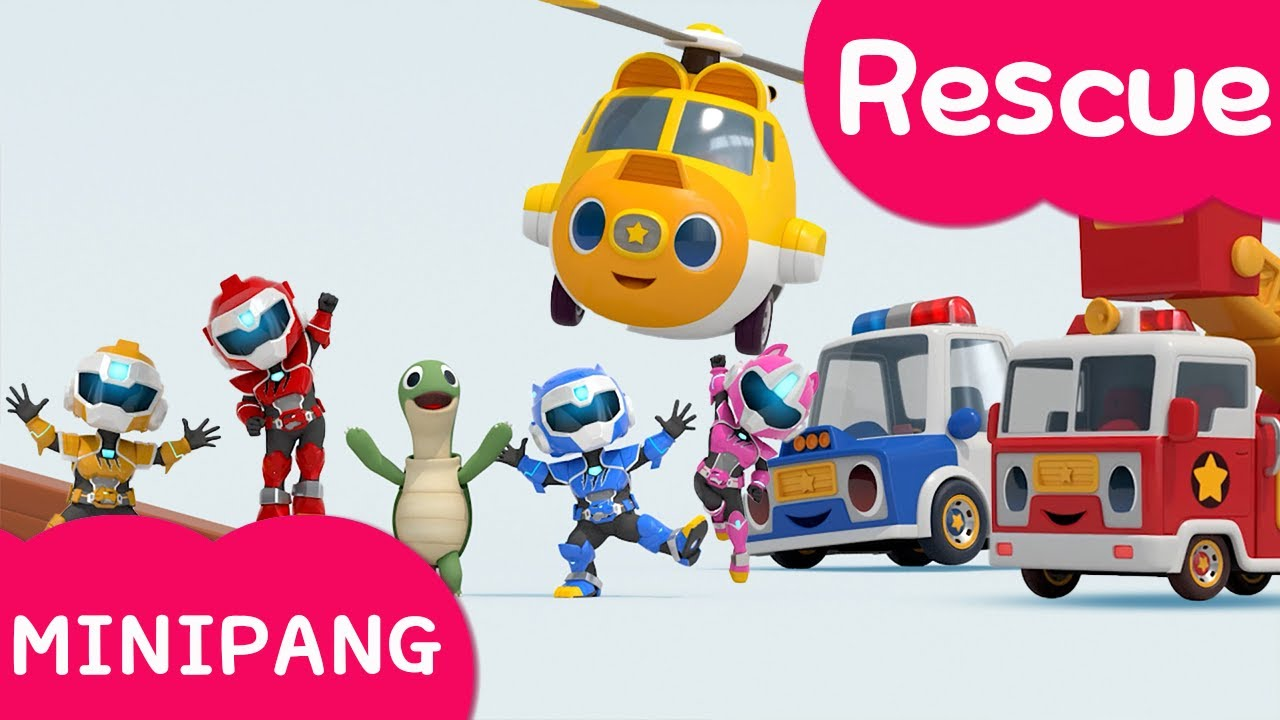 Learn colors with Miniforce | Minipang Rescue | Watch out for dominoes | Mini-Pang TV 3D Play