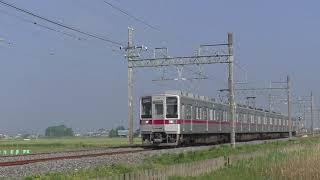 東武10030系11447F栗橋~新古河通過