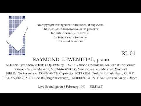 RAYMOND LEWENTHAL Recital   5 February 1967   BELFAST