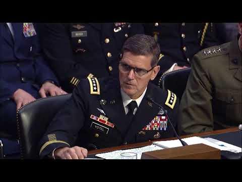 Sen. King Questions CENTCOM Commander Gen. Votel